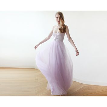 Lavender purple maxi ballerina tulle dress 1061