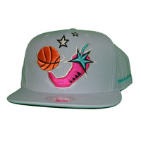 Mitchell & Ness 1996 NBA All Star Chili Pepper Snapback In Grey