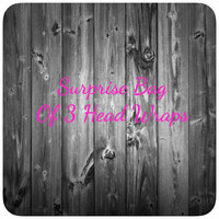 Surprise Bag of 3 Head Wraps, Baby Headbands, Headband Set, Baby Shower Gift, READY TO SHIP)