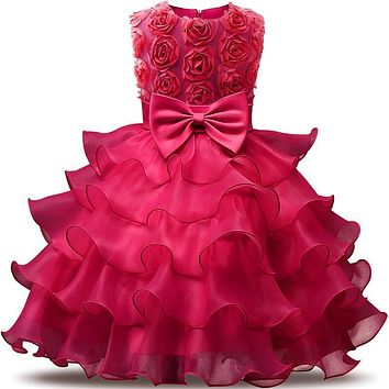 New Party Princess Dress Wedding Girl Clothing Birthday Costume Kids Dresses for Flower Girls Clothes Size 6 7 8 Tutu Dress