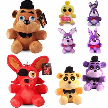 Plush Toys 18cm  At  4 Freddy Bear Chica Bonnie Foxy Plush Keychain Pendant Stuffed Animals Toys Gifts