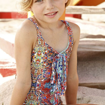 Peixoto Kids Hannah | Kids Fringe Accented One Piece