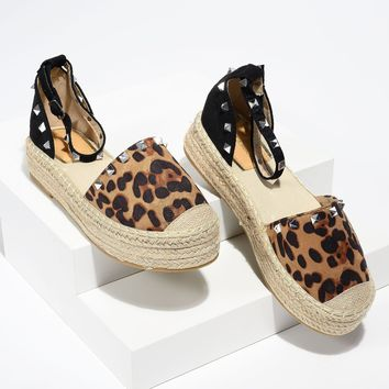 Beverly Lady Leopard Espadrille