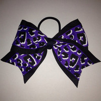 Purple Leopard Cheer Bow by TheFiercestFandom on Etsy