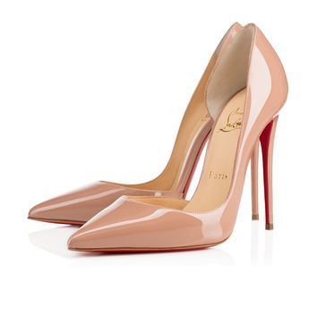 Iriza 120 Nude Patent Leather - Women Shoes - Christian Louboutin