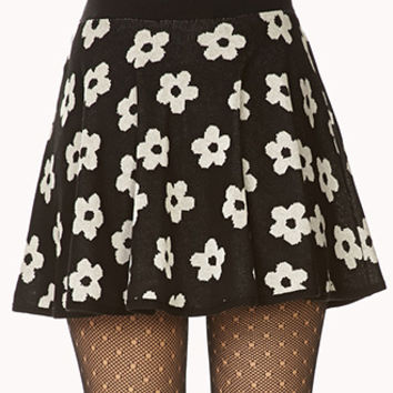 Retro Daisy Skater Skirt
