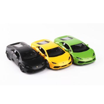"5"" Simulation Toy Vehicles Diecast Alloy Metal Model Cars For Lamborghini Huracan LP610 Car Model Toy Vehicles Toy For Boys"