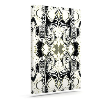 "Dawid Roc ""THe Palace Walls III"" White Abstract Canvas Art"