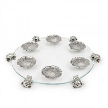 Sfardea Seder Tray with Frogs