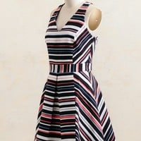Decorah Jacquard Striped Dress By Adelyn Rae