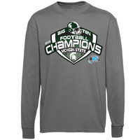 Michigan State Spartans 2013 Big Ten Football Champions Locker Room Long Sleeve T-Shirt - Gray - http://www.shareasale.com/m-pr.cfm?merchantID=7124&userID=1042934&productID=540322901 / Big Ten Gear