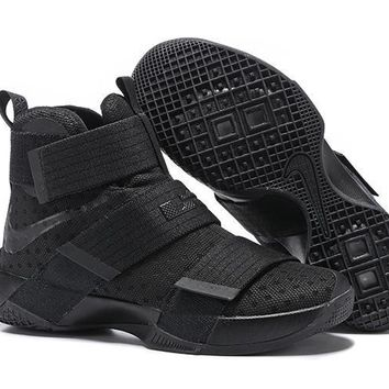 Nike LeBron Soldier 10 EP ¡°Black Warrior¡± Basketball Shoes US7-12