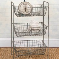 Three-Tier Mesh Floor Display
