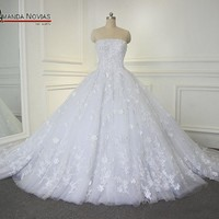 Ball Gown Wedding Dress With Long Train