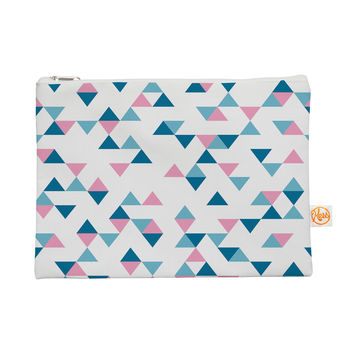 """Project M """"Triangles Pink"""" Blush Blue Everything Bag"""