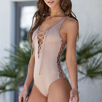 LA Hearts Strappy Side One Piece Swimsuit at PacSun.com