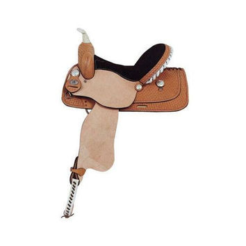 American Saddlery Basket Tooled Barrel Saddle 15 Package