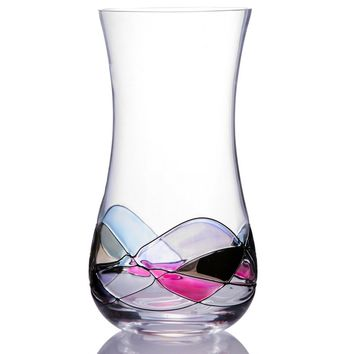 Handcrafted Blown Glass Flower Vase by Sonoma Artisan; Elegant Design with a Modern  Many Occasions