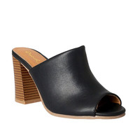 Margot Peep-Toe Mules-FINAL SALE