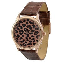 Leopard Pattern Watch (Rose gold)