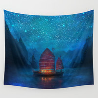 Our Secret Harbor Wall Tapestry by Aimee Stewart