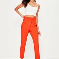 Missguided - Orange Tailored Pants