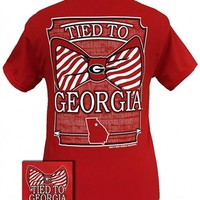 UGA Tied to Georgia T-Shirt | UGA T-Shirts | Georgia Bulldogs T-Shirt