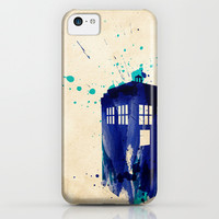 Doctor Who TARDIS Rustic iPhone & iPod Case by Colin Capurso