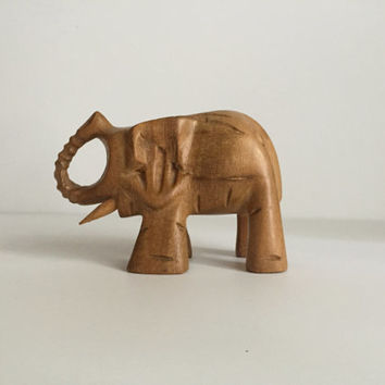 SALE!! Hand Carved Elephant Figurine/ Sculpture/ Statue/ Ornament African Sculpture