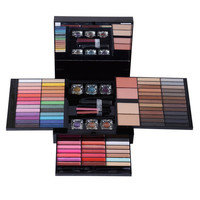 Cosmetic 80 Colours 3 Layers Eyeshadow Lip Gloss Drawer Makeup Set Palette with Mirror and Brush