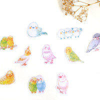 Romance Birdie flake sticker