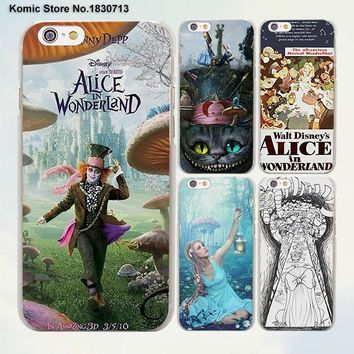 Princess Tattooed Girls Alice in Wonderland design transparent clear Cases Cover for Apple iPhone 6 6s Plus 7 7Plus SE 5 5s 4s 5
