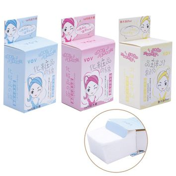 100 Pcs/1 Pack Practical Durable Makeup Cosmetic Facial Cleaning White Cotton Pads