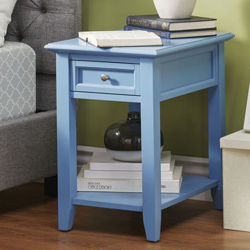 Amby Accent Table with Built-In Power Strip