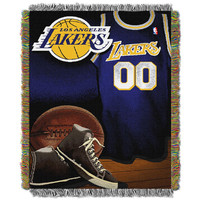 Los Angeles Lakers NBA Woven Tapestry Throw (Vintage Series) (48x60)