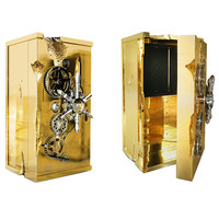 Brass & Gold Dipped Safe Box by Joao Lopes, Limited Edition of 20
