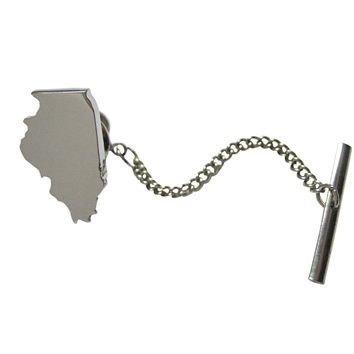 Illinois State Map Shape Tie Tack