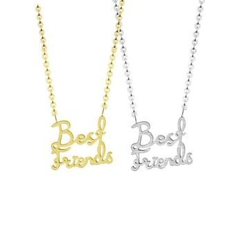 2018 Fashion Student Jewelry Best Friends BFF Pendant Necklaces Stainless Steel Friendship Necklace for kids baby children girl