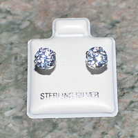 Hypoallergenic Earrings For Sensitive Ears NO NICKEL CZ .925 Sterling Silver