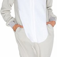 Silver Lilly Slim Fit Animal Pajamas - Adult One Piece Cosplay Elephant Costume