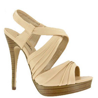 Beige Strappy High Heel Platform Sandals and wide range of Unique High Heel Sandals at ElectriqueBoutique.com
