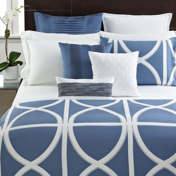 Hotel Collection Bedding, Modern Transom Blue Collection - Bedding Collections - Bed & Bath - Macy's