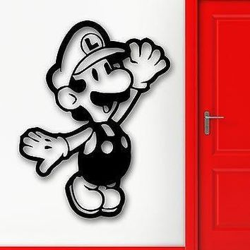 Wall Stickers Vinyl Decal Nursery Mario Video Game Gamer Nintendo Unique Gift (ig1694)