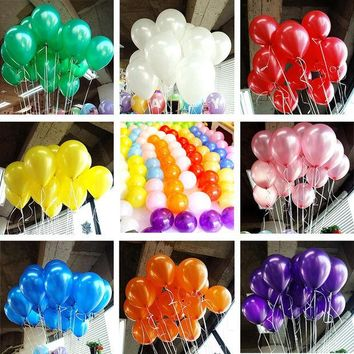 DCCKL72 10pcs/lot 10inch Pearl Balloon Air Balls Inflatable Wedding Party Decoration Birthday Kid Party Float Balloons Kids Toys