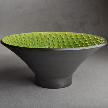 Spiky Bowl Ready To Ship Venus Wheel Thrown Bowl by Symmetrical Pottery