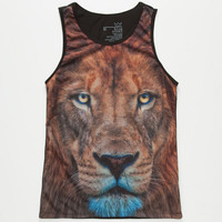 Blue Crown Lion Boys Tank Black  In Sizes