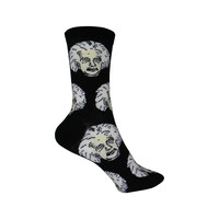 Einstein Crew Socks in Black and White