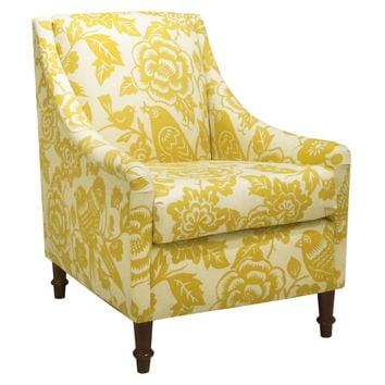 holmes floral swooparm chair green accent u0026 occasional chairs