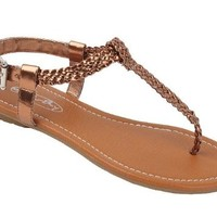 Women Roman Gladiator Braided Sandals Flat Thongs Ankle T-straps Shoes #2221