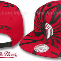 Trailblazers EARTHQUAKE SNAPBACK Red Hat by Mitchell & Ness